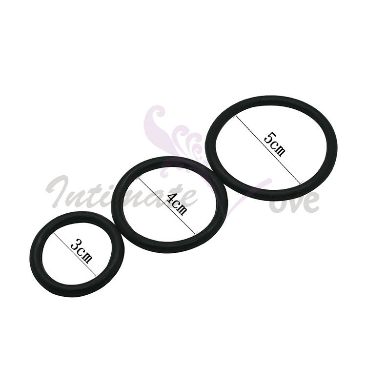 ( 3 Pcs/Lot ) Black 3 Time Delay Penis Rings Cock Rings Set , Male Adult Products Sex Toys