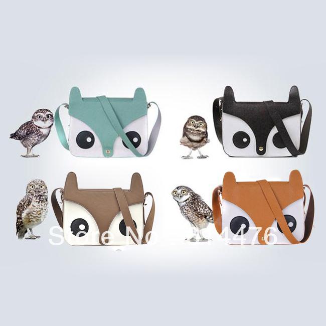 Free Shipping 400PCS/Lot New Women Ladies Retro Shoulder Bag Fashion Messenger Bags Cute School Tote Owl Fox PU leather Handbags(China (Mainland))