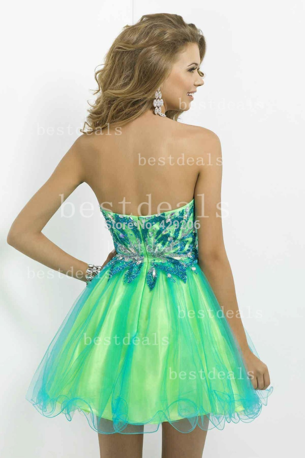 Neon green homecoming dresses