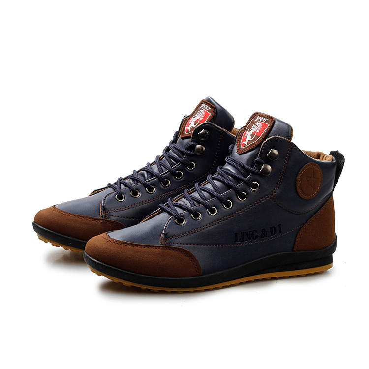 High Top Men Shoes New 2015 Designer Autumn Winter Men s Fashion Sneakers Outdoor Male Casual