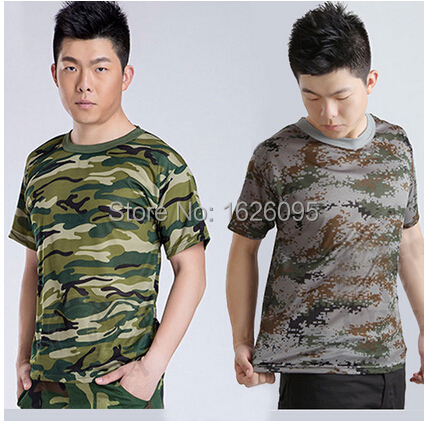 Summer Outdoors Military Hunting Camouflage T Shirt Men Breathable Sport Camo Outdoor Camp Tees Roupas Esportivas Size S-4XL(China (Mainland))