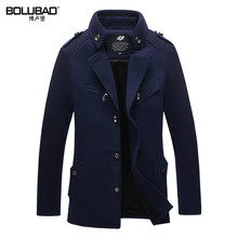 2016 New Arrival Winter Wool Blends Brand Men Suits Dress Jackets Men Casual Long Thicken Wool Coat Warm Men's Clothing(China (Mainland))