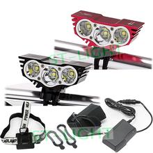 SolarStorm X3 Bike Headlight 6000 Lumens Bike Front Light 3 T6 LED Farol Para Bicicleta +Battery Pack+Charger+Headband Free Ship(China (Mainland))