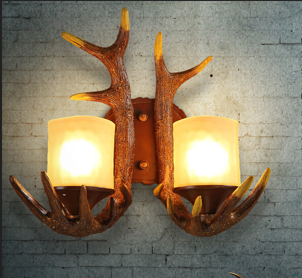 NEW  Antique Antlers Rural Wall Lamp Art Design Style Corridor Hallway Creative Lights For Bar ClubRO132<br><br>Aliexpress