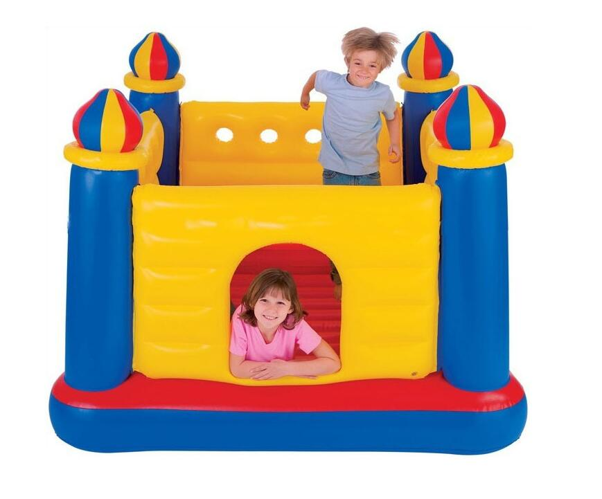 INTEX48259 Child Inflatable Castle Home Interior Mini Castle Thickening Jumping Ball Pool Playground 175*175*135cm(China (Mainland))