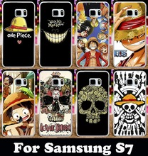 Hard Plastic Soft TPU Silicon Phone Case Samsung Galaxy S7 G930 G9300 Cover ONE PIECE Cartoon Skull Moon Wolf Shell Housing - TAOYUNXI store