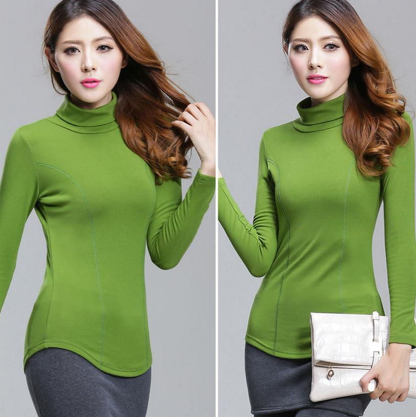 Fashion Sweater Women High-necked Pullover Winter & autumn Cashmere Knitted Sweaters Lady's Full Sleeve green Pullovers size 4XL(China (Mainland))