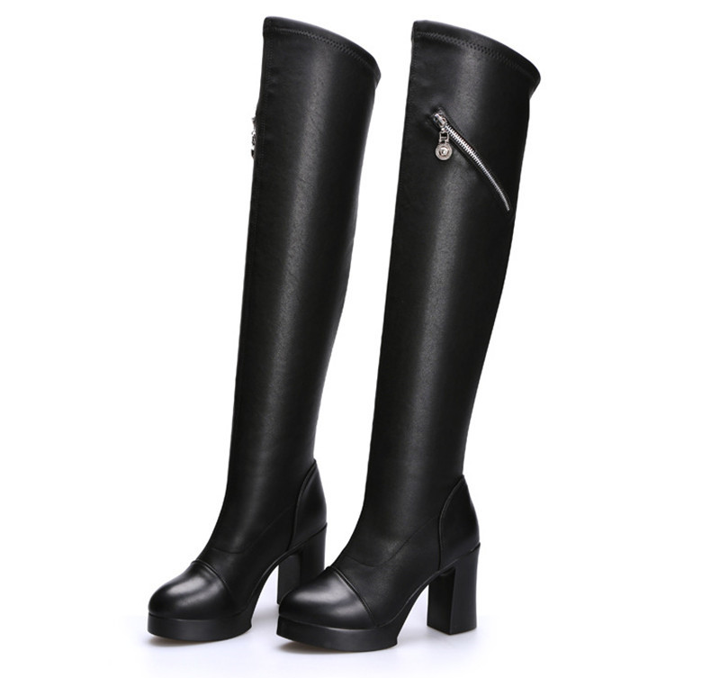 Long Leather Boots Promotion-Shop for Promotional Long Leather ...