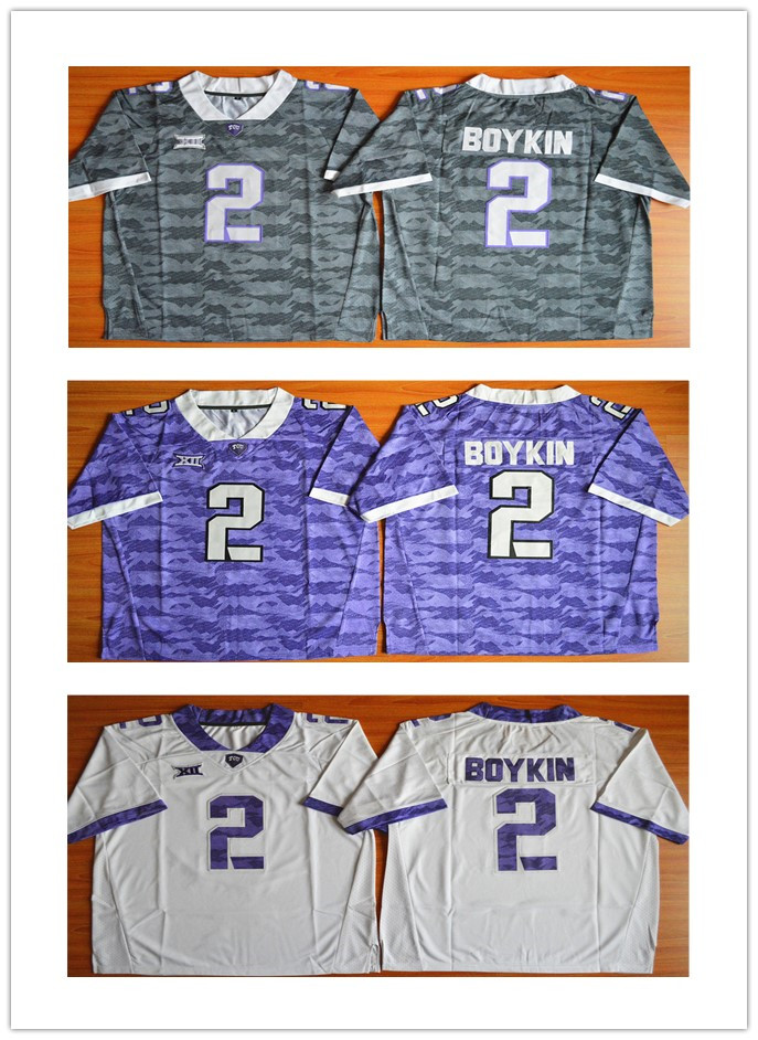 Low Price #2 Trevone Boykin,TCU Horned Frogs NCAA College Football Jerseys,2015 New Style Cheap Stitched Limited Jersey,Embroide<br><br>Aliexpress
