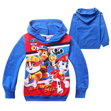 2015 Autumn Girls Boys Hoodies and Sweatshirts Sudaderas Ninos Cartoon Long Sleeve Paw Patrol Clothes Kids Hoodies Sweatshirt(China (Mainland))
