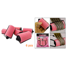 New 6PCS Special Girl/Ladies Magic Hair Care Roller Style Pink Sponge Curlers