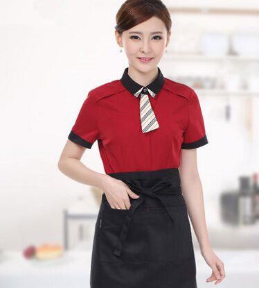 restaurant uniform supply casual restaurant uniform restaurant waiter uniform chinese restaurant waiter uniform with apron(China (Mainland))