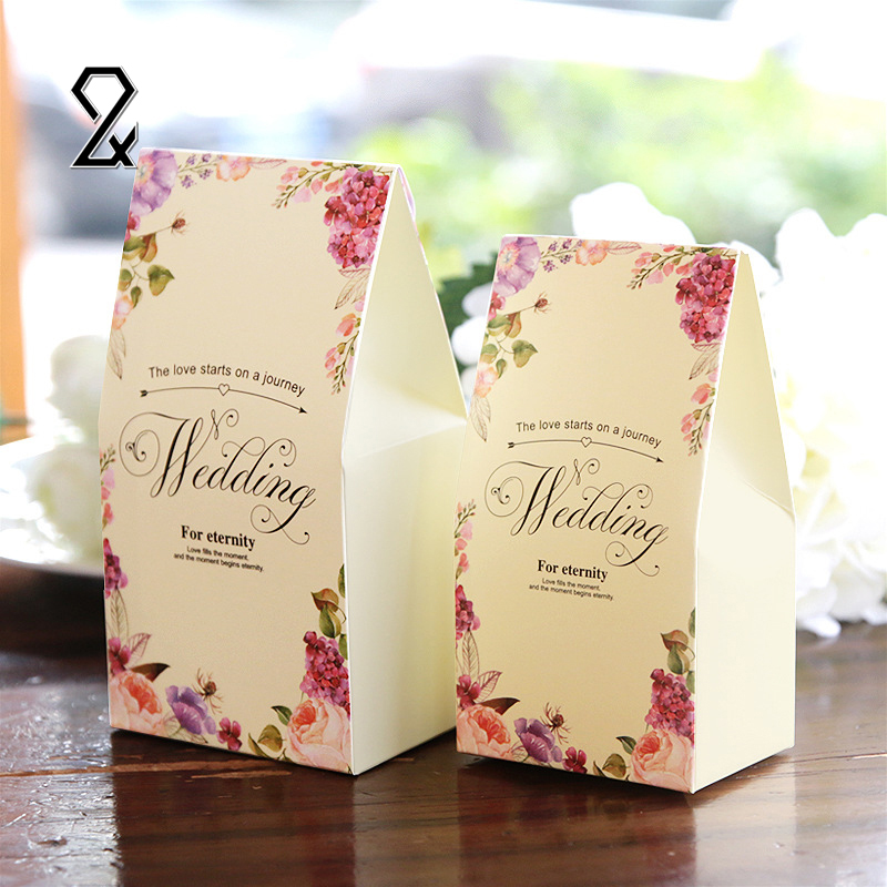Flora Wedding Decoration Flower Candy Fold Recycled Paper Box Birthday Sweet Love Boxes for Party Favor Wedding Gift for Guests(China (Mainland))