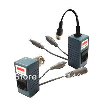 Freeshipping Twisted BNC CCTV Video Balun passive Transceivers UTP Balun BNC Cat5 CCTV UTP Video Balun up to 3000ft Range