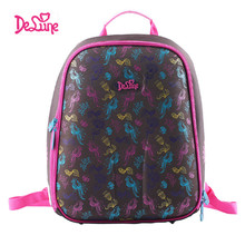 Authentic Delune 2015 new 3D cartoon children school bags for girls printing backpack children Customized design child schoolbag(China (Mainland))