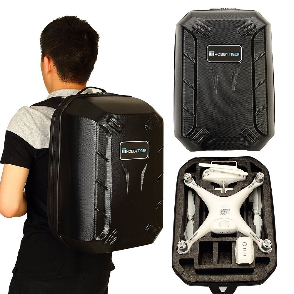 HOBBYTIGER Hardshell Backpack Case for DJI Phantom 4 Drone and Accessories
