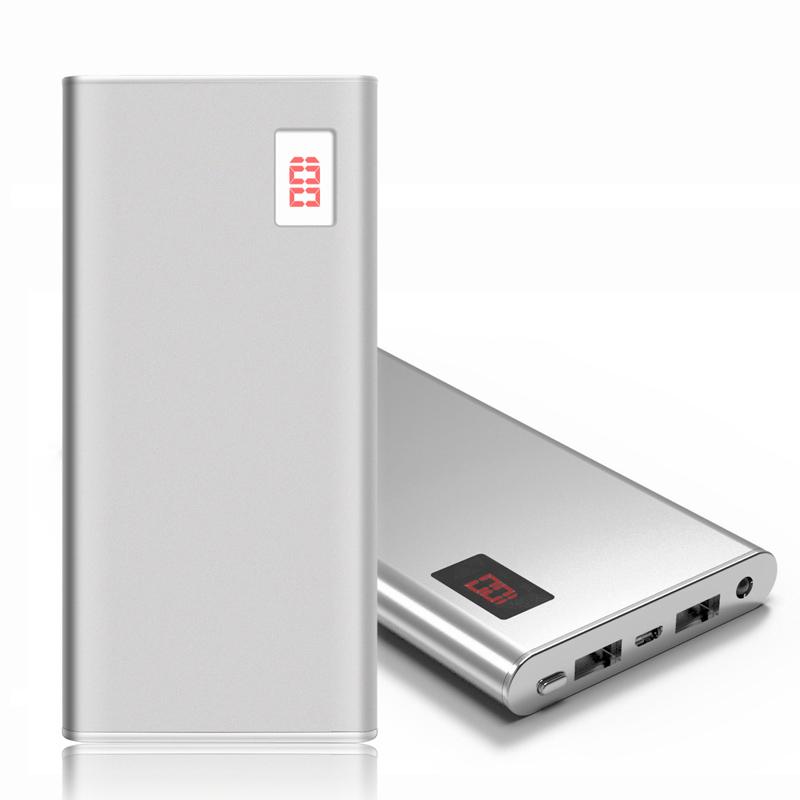 Ultra-thin Power Bank 12000mah Dual USB LCD Display External Battery Portable Charger For iPhone xiaomi(China (Mainland))