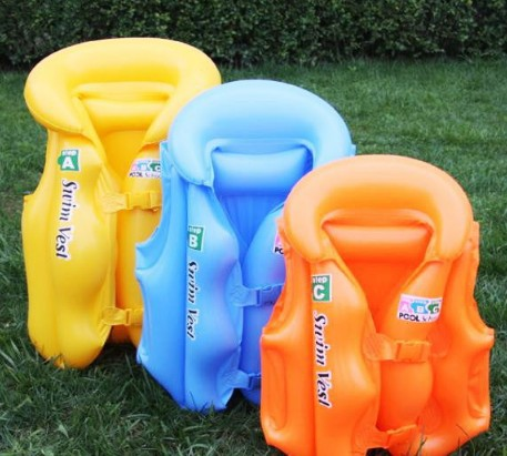 1PC High Quality Kids Life Jacket Baby Water Sport Inflatable Life Vest Child's Swimming Lifejackets (Blue & Pink & Yellow)(China (Mainland))