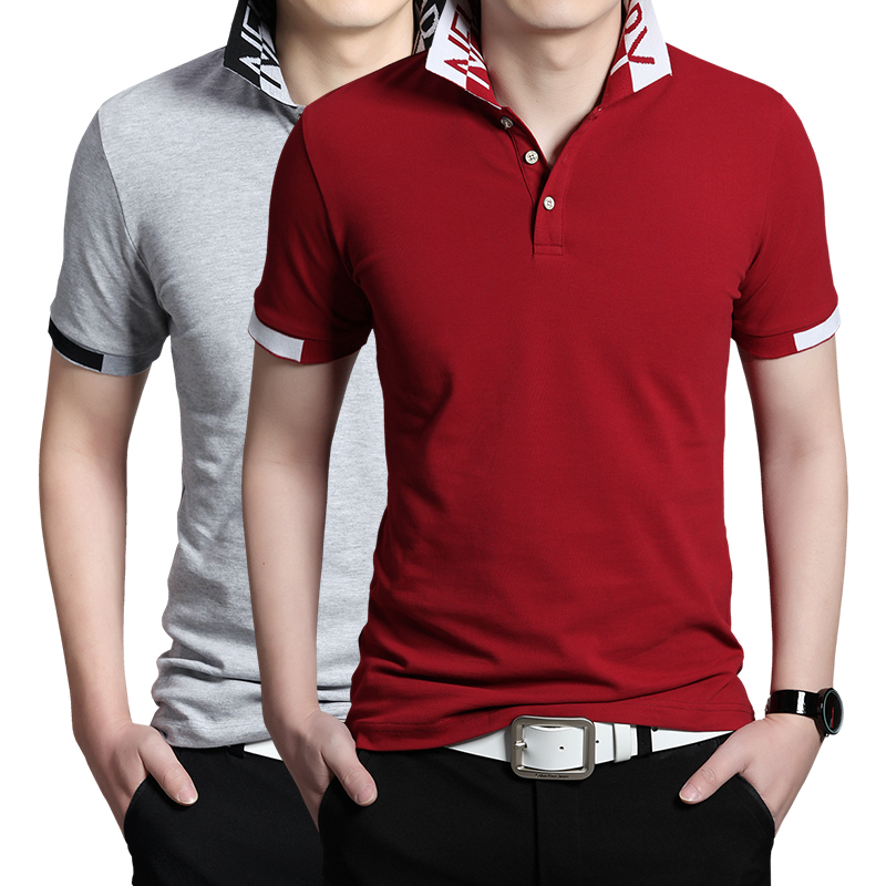 2015 new brand t shirts for men cotton polo t shirt plus for Branded polo t shirts