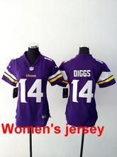 A+++ Women ladies all stitched Minnesota Vikings ladies 5 Teddy Bridgewater 28 Adrian Peterson 84 Cordarrelle Patterson(China (Mainland))