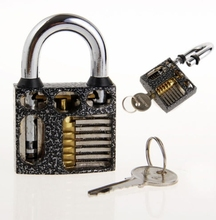 New Perspective Cutaway Inside View Practice Padlock Lock Locksmith Training Skill Craft  Learning Tool With 3 Keys