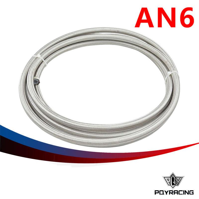 "6 AN -6 (8 mm 5/16"") PTFE Stainless Braided Teflon Hose(China (Mainland))"