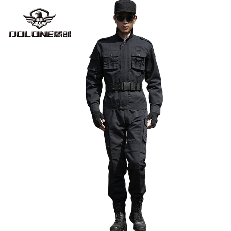 Black Riot Gear Simulation Training Camouflage Uniform Student Outdoor CS Game Clothing Military Fans Simulation Combat Training(China (Mainland))