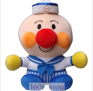 free shipping 55CM 22 Japanese Anime Navy sailor suit Anpanman Plush Toy Stuffed Doll Cartoon Birthday Gift for kids<br><br>Aliexpress