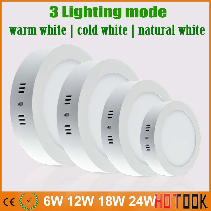 6W 12W/18W 24W LED ceiling led downlight panel light bulb AC85-265V Change color Warm Cool natural white indoor lighting X 10PCS<br>
