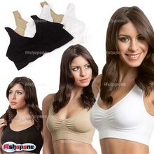 New Hot Cozy Seamless Sports Leisure Bra Support Vest White Black Nude Yoga Free Shipping