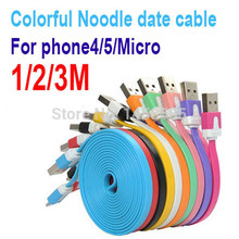 Buy 1000pcs/lot High 3M 10FT Flat Noodle Style 8pin USB Sync Charger Data Cable Iphone 5 5S 6 6plus ios 9 8 7 for $738.00 in AliExpress store