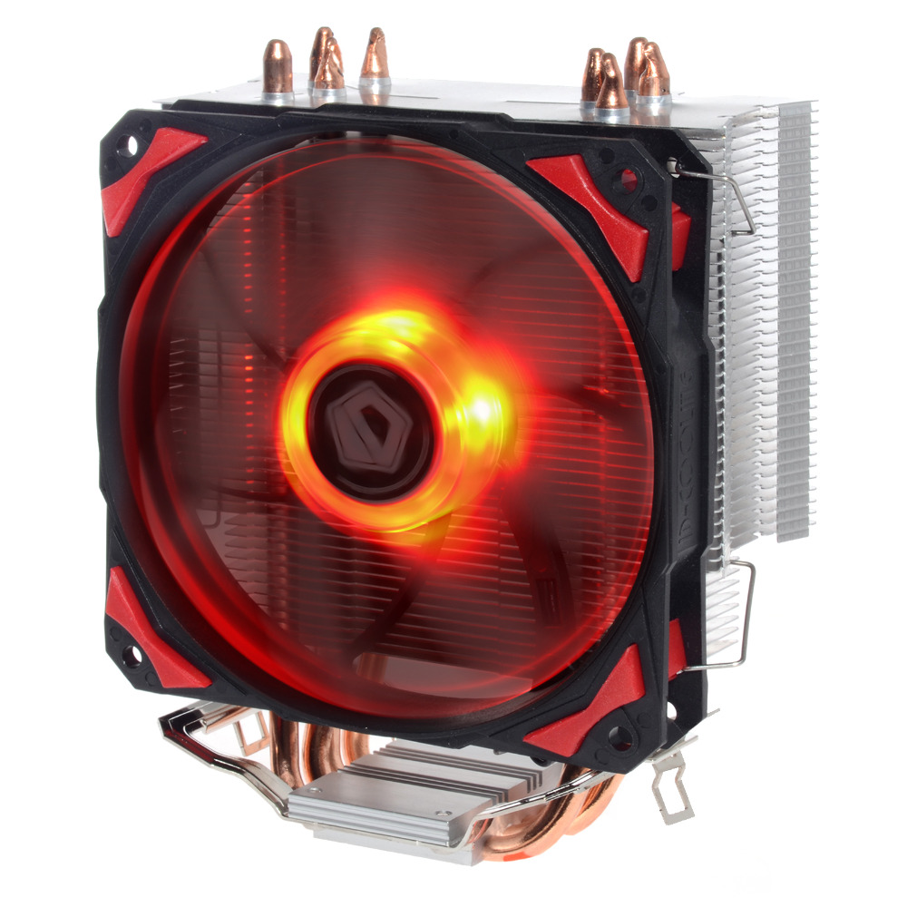 ID-COOLING SE-214, TDP130W, Red LED, 4 Direct Touch Heatpipe, 120mm PWM Fan with Noise Absorption Rubber Pads,For Intel & AMD(China (Mainland))