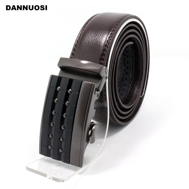 [DANNUOSI]Retro fashion automatic buckle belt waistband brown belt boutique wholesale business high-grade leather belt(China (Mainland))