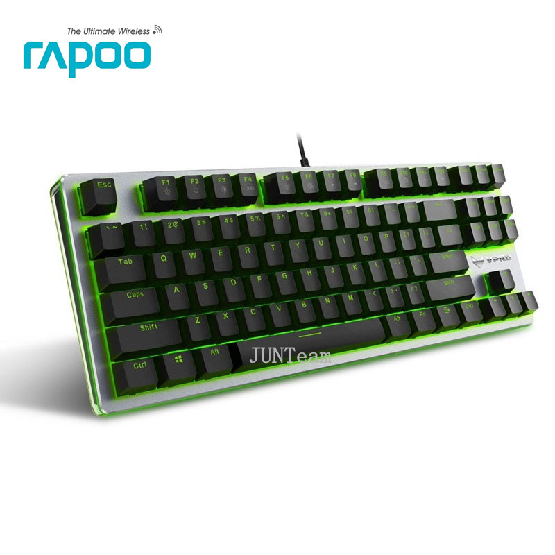 Original Rapoo V500 RGB Backlight Mechanical Keyboard Full Keys Anti-Ghosting Professional Gaming Keyboard For Laptop Desktop PC(China (Mainland))