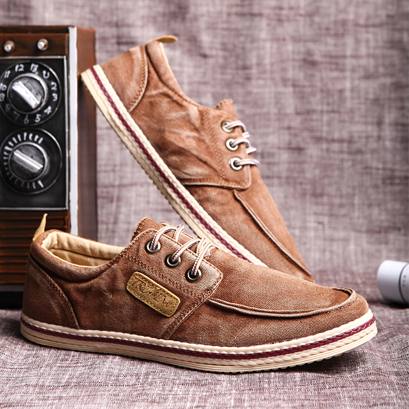 2015 new men s denim canvas shoes fashion casual board shoes Sneakers mf D027