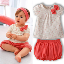 Kids Baby Girl Cherry Dots T shirt Tops Short Pants 2Pcs Bow Cotton Outfits 1 3YFree
