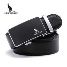 Buy SAN VITALE Brand Designer Mens Belts Luxury Genuine Split Leather belt Men Jeans Pants Automatic Buckle Male Waist Strap for $10.06 in AliExpress store