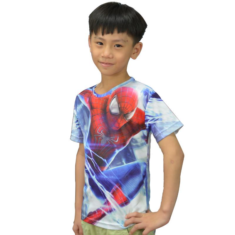 2016 Super Hero The Avengers Boys Top T-Shirt For Kids Baby Summer Cartoon Short Sleeves Children T Shirt Clothing(China (Mainland))