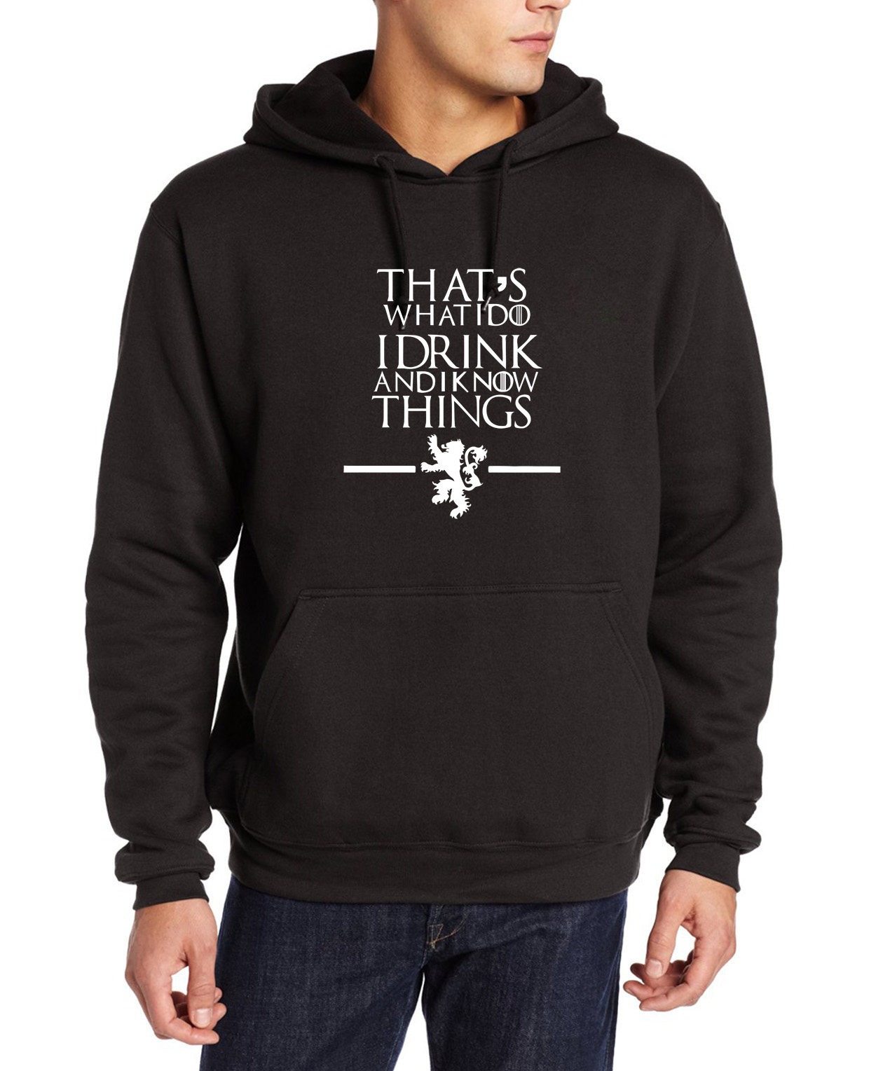 2016 Men Game of Thrones sweatshirt That's What I Do I Drink and I know Things print brand suits hip-hop harajuku pp gym hoodies(China (Mainland))