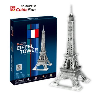 Candice guo! 3D puzzle architectural 3D paper model simple version jigsaw game Eiffel Tower(China (Mainland))
