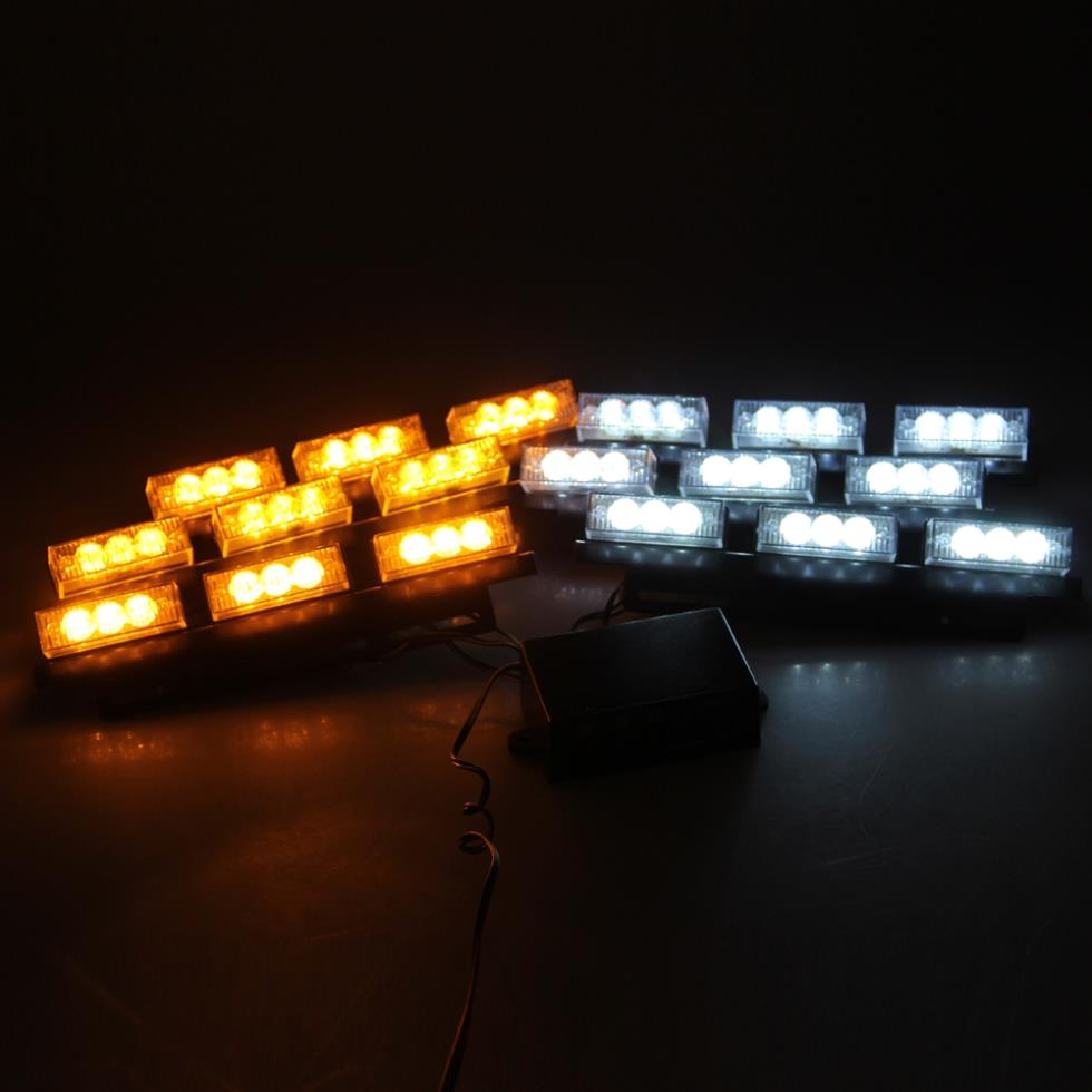 54 led strobe dash police emergency flashing warning light for car. Black Bedroom Furniture Sets. Home Design Ideas