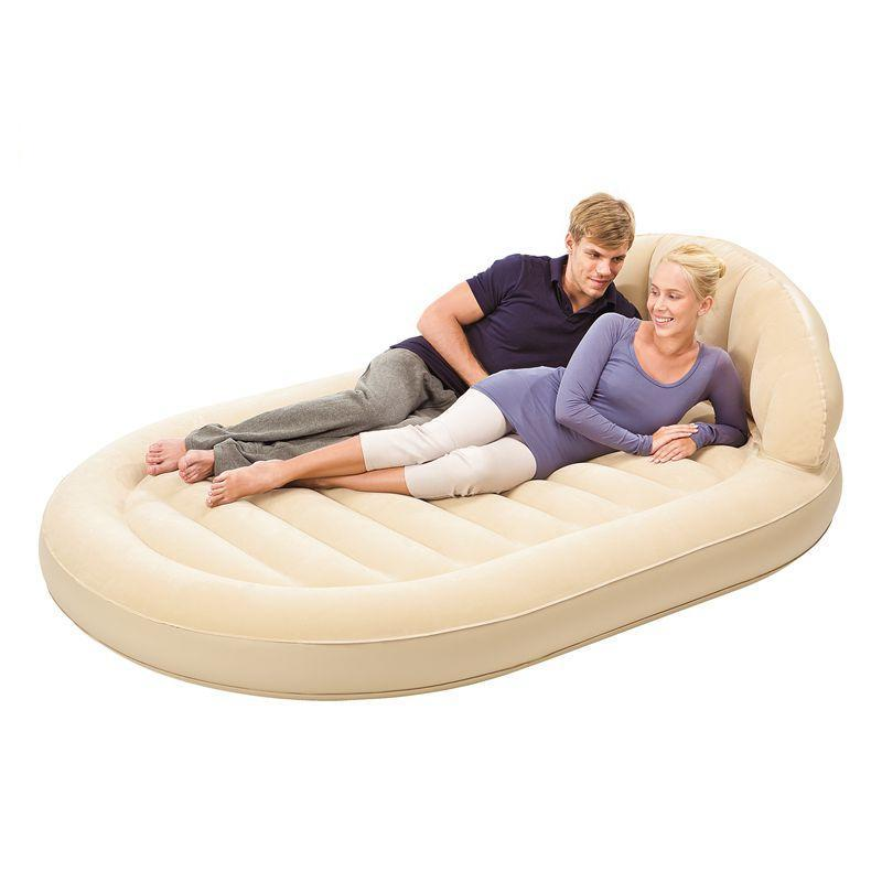 Large luxurious round double air bed inflatable mattress for 5 in 1 bed