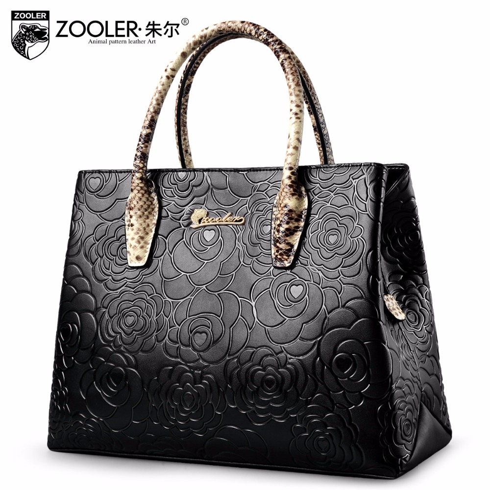 Фотография ZOOLER women leather handbags luxury floral handbag ladies shoulder bag fashion Messenger bag Brand Cross body bolsa feminina