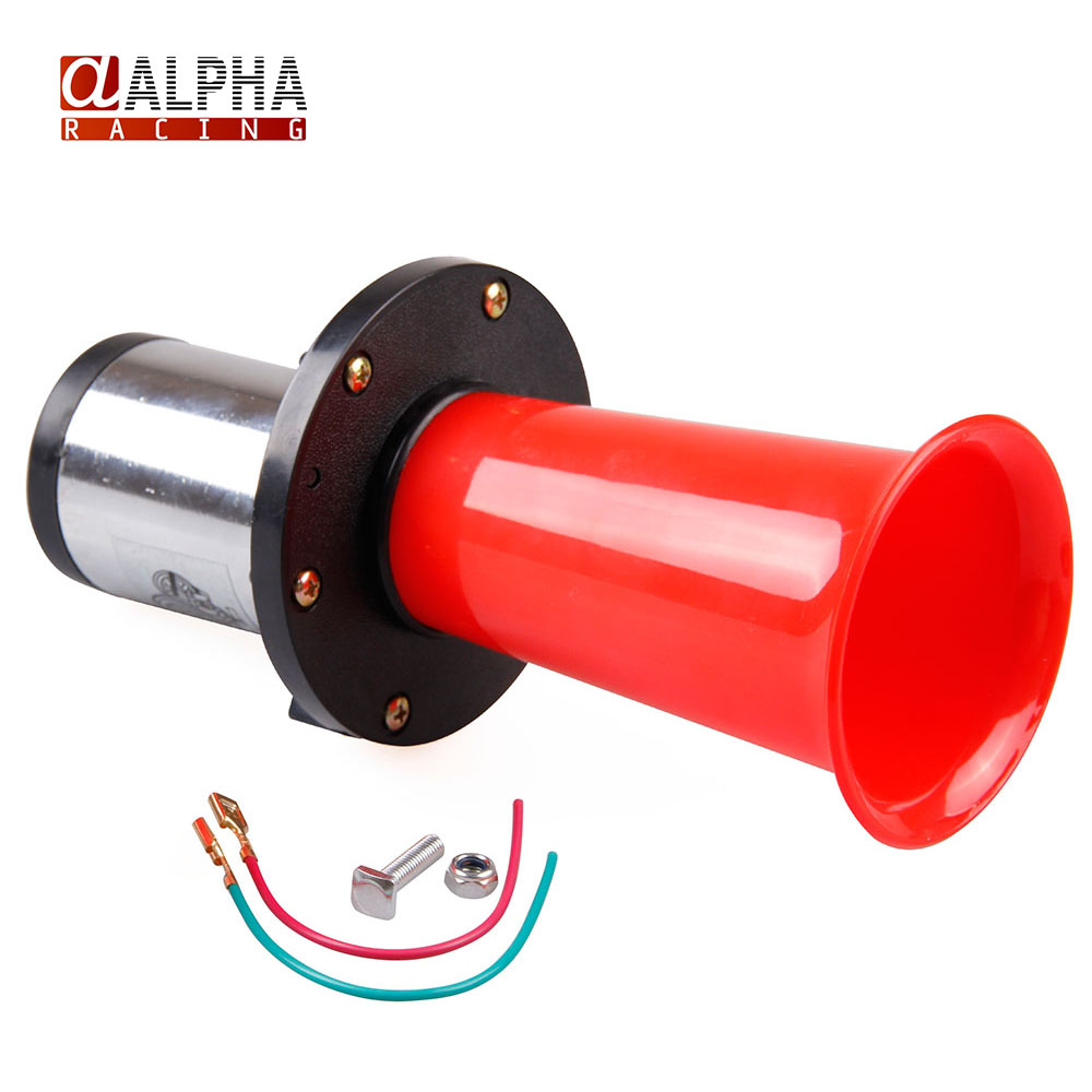 Alpha Racing- Red 110dB Antique Vintage Old Style Vehicle Boat Auto Car Truck Loud Alarm Horn 12V New(China (Mainland))