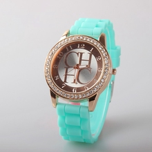 Fashion Brand Quartz Watches Women Rhinestone Wristwatch 2016 Casual Candy Jelly Silicone Dress Watches For Ladies Clock Relojes