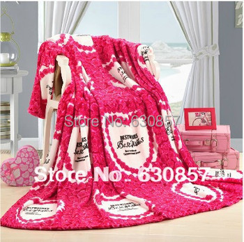 Бесплатная доставка полиэстер одеяло одеяло шерсть крючком мягкие пушистые флис одеяла бросает одеяло доброжелательность размер 200 * 230