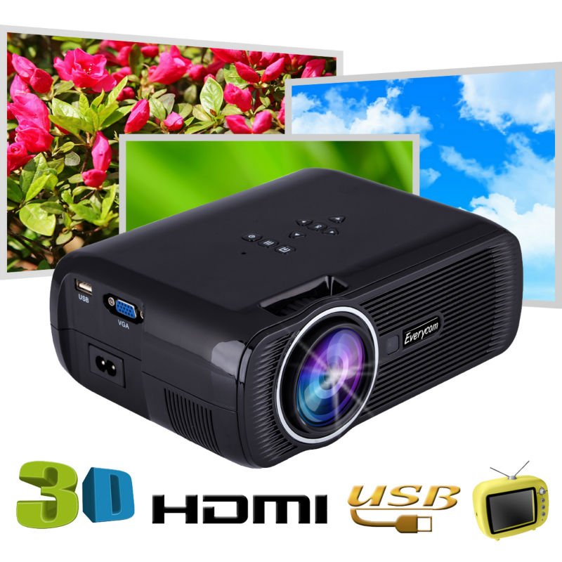 new arrival everycom x7 mini tv projector hdmi home. Black Bedroom Furniture Sets. Home Design Ideas