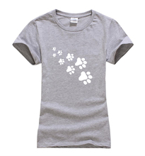 Buy Kawaii Cat Paws Print Women T Shirt 2017 Fashion Summer New Slim Fit Cute Cartoon T-Shirt Femme Tee Shirt Harajuku Tops Lady for $5.38 in AliExpress store