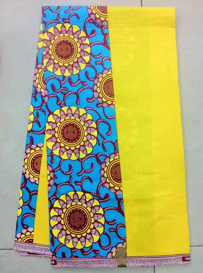 Door-to-door delivery!New fashion hollandais real wax 100% cotton wax Ankara fabric impression nice color(China (Mainland))