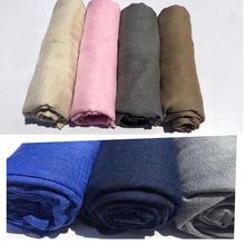 180*140 Longa Feminina Cachecóis 24 cores CAMISA camisa cachecol xale de algodão hijab muçulmano